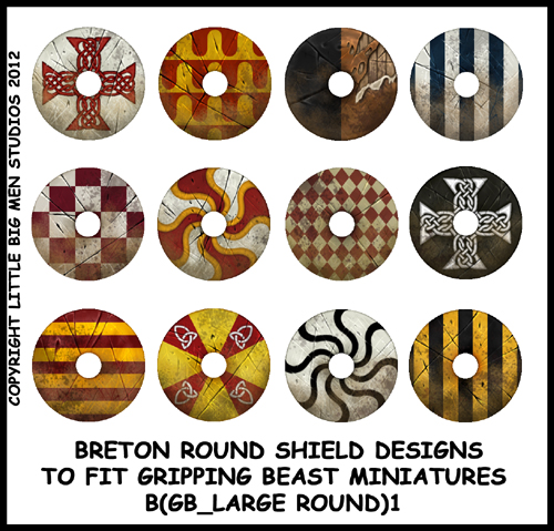 Dark Age Designs For Large Round Shields | Gripping Beast