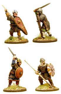 SA03 Anglo-Danish Huscarls (Spears) Hearthguard 1p