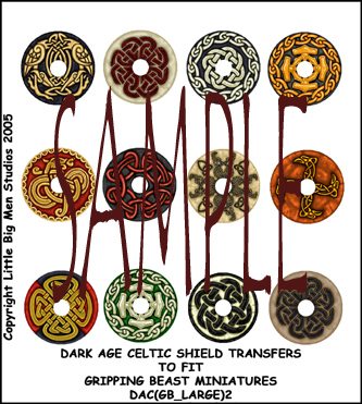 DAC(GB_LARGE)2 Dark Age Celtic Designs for Large Round Shields Two (12)