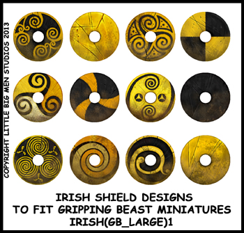 IRISH(GB)01 Irish Shields (Large Dark Age Round) (12)