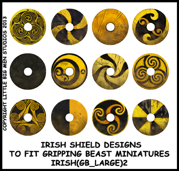 IRISH(GB)02 Irish Shields (Large Dark Age Round) (12)