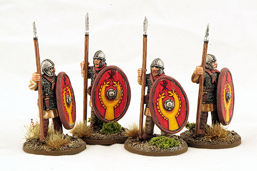 LR09 Late Roman Armoured Infantry (Helmets) (Standing) (4)