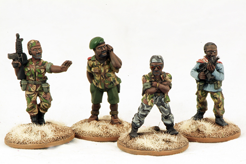 MoFo 3.5 African Militia - Warlord & Bodyguards (4)