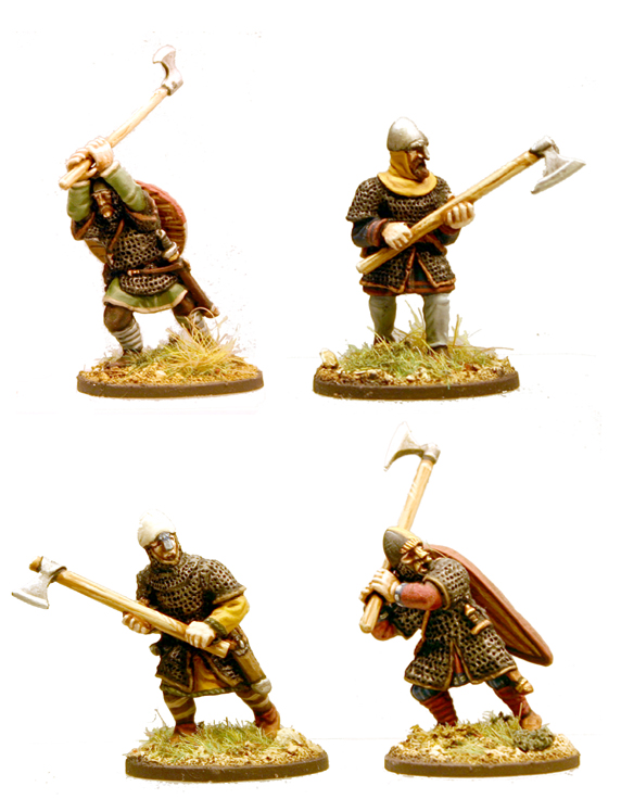 SA02 Anglo-Danish Huscarls (Axes) Hearthguard 1pt