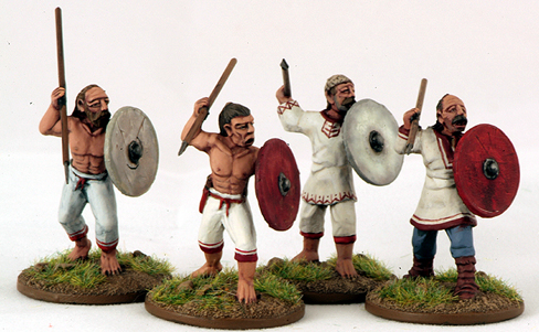 SLV03 Slav Warriors/Skirmishers (4)