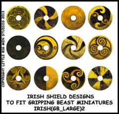IRISH(GB)2 Irish Shields (Large Dark Age Round) (12)
