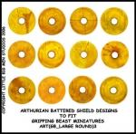 ART(GB_LARGE ROUND)3 British & Welsh Kingdoms Yellow Shield Designs (12)