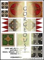 Dark Age Celtic Cross Banners