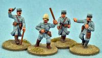 FRN01 French Officers (Separate Heads) (4)