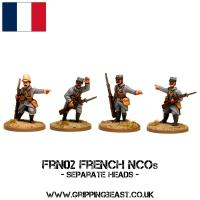 FRN02 French NCOs (Separate Heads) (4)