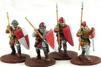 LCF11 Frankish Foot (Spearmen) (Advancing) (4)