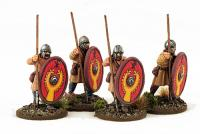 LR10 Late Roman Unarmoured Infantry (Helmets - Advancing) (4)