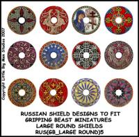RUS(GB_LARGE ROUND)5 Russian Shield (Large Dark Age Round)