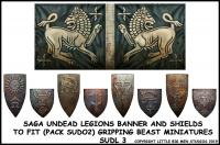 SUDL 3 Undead Legions Banner & Undead Heater Shield Transfers