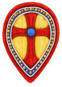 BZI(GB)3 Byzantine Infantry Shield (Infantry Teardrop) (12)