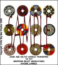 DAC(GB_LARGE)1 Dark Age Celtic Designs for Large Round Shields One (12)