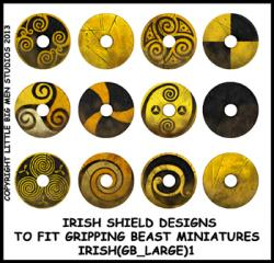 IRISH(GB)1 Irish Shields (Large Dark Age Round) (12)