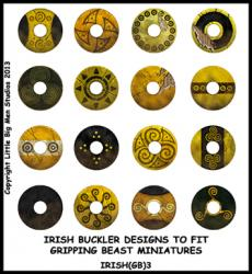 IRISH(GB)3 Irish Shields (Dark Age Buckler) (16)