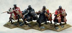 LCC06 Mounted Crusading Knights (Open Helms) (Lance Couched) (4)