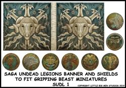 SUDL 1 Undead Legions Banner & Shields 1