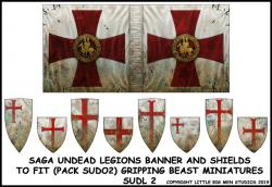 SUDL 2 Undead Legions Banner & Undead Heater Shield Transfers