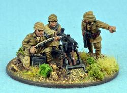 TURK05 Machine Gun and 3 Crew (Fixed Heads)