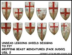 UDL 2 Undead Legions Shield (Heater) Transfers