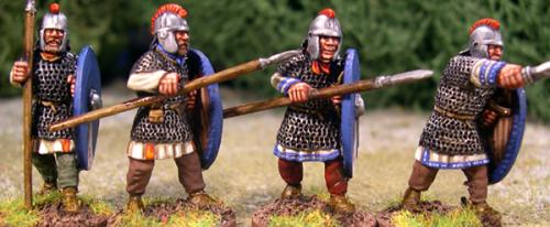 ABR07 Armoured Arthurian Regular Spearmen (4)
