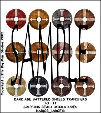 DAB(GB_LARGE)3 Battered Designs For Dark Age Large Round Shields Three (12)