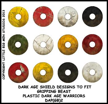 DAP(GB)2 Plastic Dark Age Warriors Shield Designs Two (12)