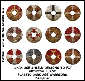 DAP(GB)9 Plastic Dark Age Warriors Shield Designs Nine (12)