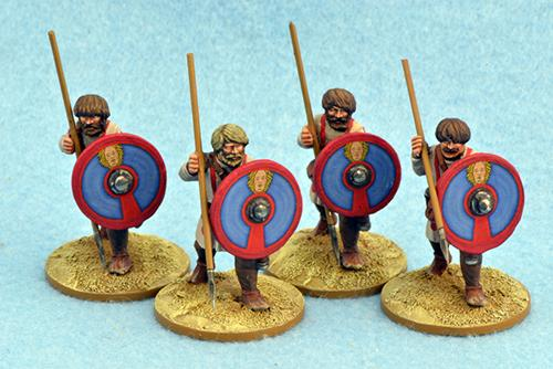 LR13 Late Roman Unarmoured Infantry (Advancing) (4)