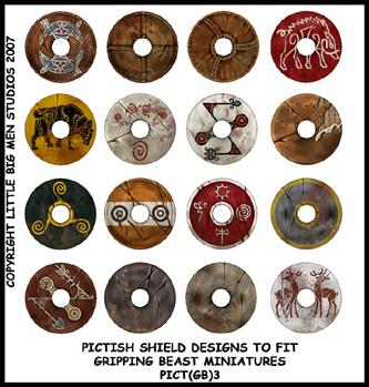 PICT(GB)3 Pict Shields (Small Dark Age Round) (16)