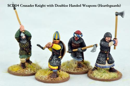 SCD04 Crusader Knights with Double Handed Weapons (Hearthguards) (4)
