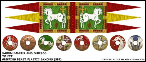 Saxon Banner and Shields (SB1)