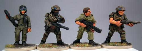 SciFi02 Marine Character pack two (4)