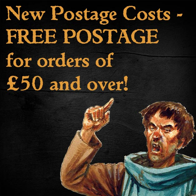 New Postage Regime - FREE POSTAGE on all orders £50 and above!
