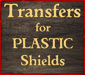 Transfers for Plastic Shields