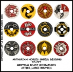 ART(GB_LARGE ROUND)1 British & Welsh Kingdoms Nobles Shield Designs (12)