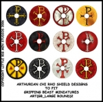 ART(GB_LARGE ROUND)2 British & Welsh Kingdoms Chi Rho Shield Designs (12)
