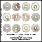 ART(GB_LARGE ROUND)5 British & Welsh Kingdoms White Shield Designs (12)