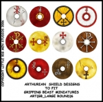 ART(GB_LARGE ROUND)6 British & Welsh Kingdoms Shield Designs (12)