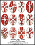 ART(GB_LARGE OVAL)1 Large Oval Shields Red (12)