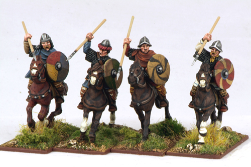 CFC02 Mounted Carolingian Hearthguard Two (4)