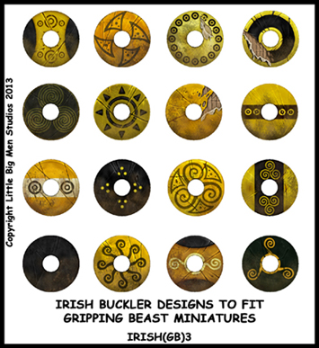 IRISH(GB)03 Irish Shields (Dark Age Buckler) (16)