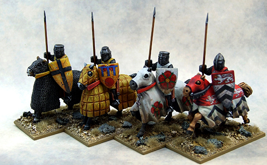LCC02 Mounted Crusading Knights (Great Helm) (Lance Upright) (4)