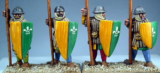 LCF10 Frankish Foot (Spearmen) (Standing) (4)