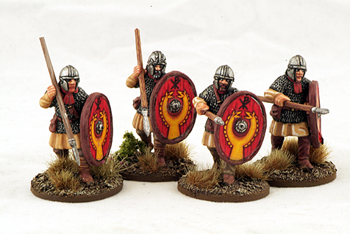 LR07 Late Roman Armoured Infantry (Helmets) (Advancing) (4)