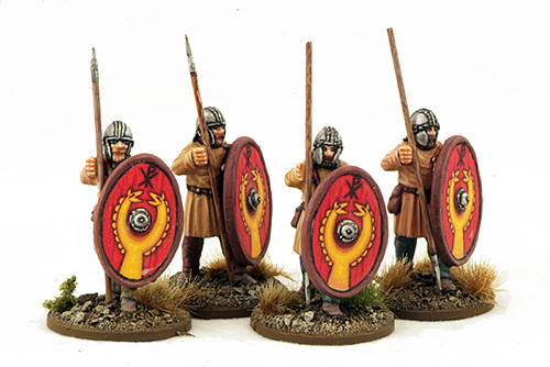 LR11 Late Roman Unarmoured Infantry (Standing ready) (Helmet) (4)