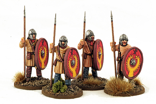 LR12 late Roman Unarmoured Infantry (Helmets) (Standing) (4)